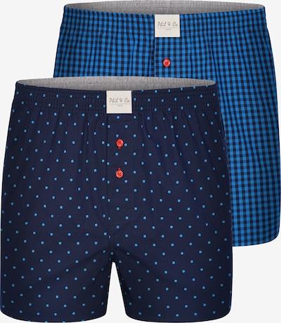 Phil & Co. Berlin Boxershorts 'Classic Double' in blau, Produktansicht