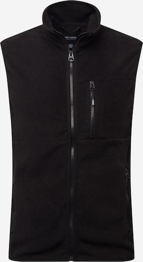 Only & Sons Weste 'Davis' in schwarz, Produktansicht