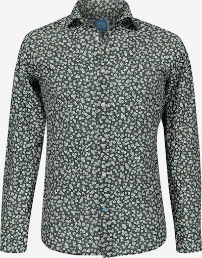 Panareha Hemd in dunkelgrün / weiß, Produktansicht