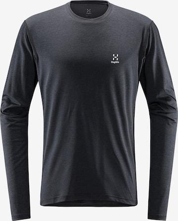 T-Shirt fonctionnel 'Ridge' Haglöfs en noir