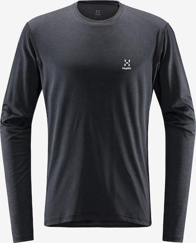 Haglöfs Functioneel shirt 'Ridge' in de kleur Zwart / Wit, Productweergave