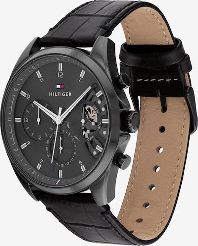 TOMMY HILFIGER Uhr in navy / hellgrau / rot / schwarz / weiß, Produktansicht