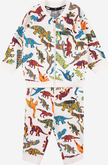 PUMA Jogginganzug 'Minicats Dinosaurier' in aqua / neongelb / dunkellila / hellrot / weiß, Produktansicht