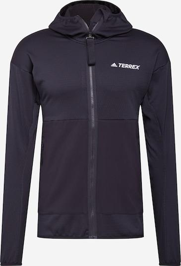 adidas Terrex Funktionele fleece-jas in de kleur Zwart / Wit, Productweergave