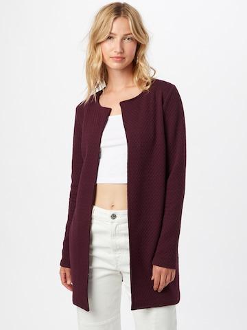 VILA Knitted Coat 'Naja' in Red