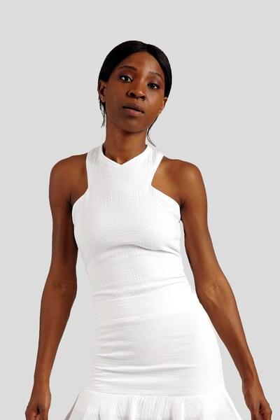 Gessica Kurzarmbluse in weiß, Modelansicht