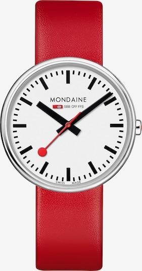 Mondaine Unisex-Uhren Analog Quarz ' ' in rot, Produktansicht