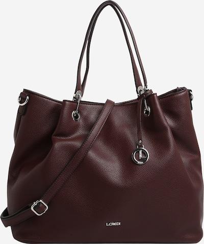 L.CREDI Shopper 'Ebony' in dunkelrot, Produktansicht