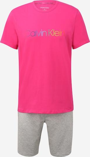 Calvin Klein Underwear Pyžamo krátké - šedý melír / mix barev / pink, Produkt