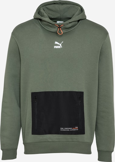 PUMA Sweatshirt 'INTERSTELLAR' in de kleur Kaki / Zwart / Wit, Productweergave
