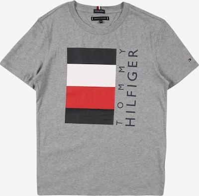 Maglietta 'GLOBAL' TOMMY HILFIGER di colore grigio sfumato / rosso / nero / bianco, Visualizzazione prodotti