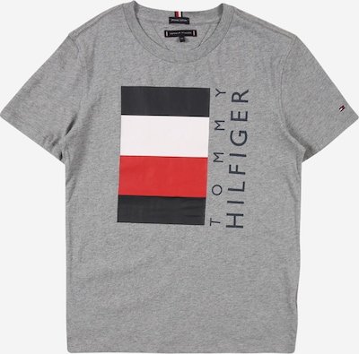 Tricou 'GLOBAL' TOMMY HILFIGER pe gri amestecat / roșu / negru / alb, Vizualizare produs