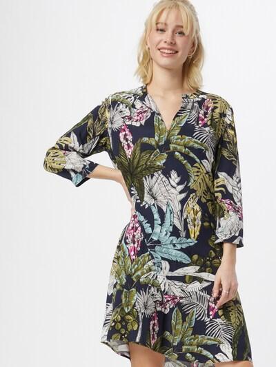 LIEBLINGSSTÜCK Kleid in beige / dunkelblau / oliv / mischfarben / pink, Modelansicht