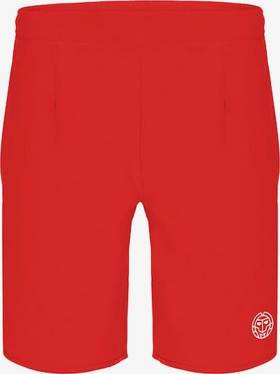 BIDI BADU Shorts Reece Tech mit Markenlogo am Bein in rot, Produktansicht