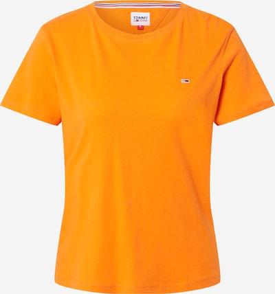 Tricou Tommy Jeans pe albastru marin / portocaliu deschis / roși aprins / alb, Vizualizare produs