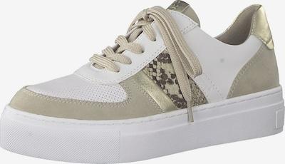 Sneaker low MARCO TOZZI pe bej deschis / maro închis / auriu / alb, Vizualizare produs