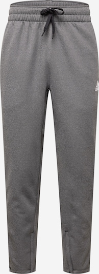 Pantaloni sport ADIDAS PERFORMANCE pe gri amestecat / alb, Vizualizare produs