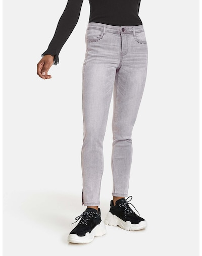 TAIFUN Jeans in grey denim / schwarz, Modelansicht