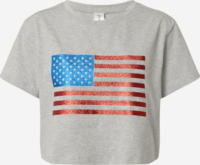 KENDALL + KYLIE Tričko - modrá / sivá melírovaná / červená, Produkt