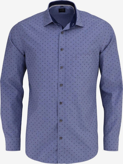 OLYMP Button Up Shirt in marine blue / Light blue, Item view