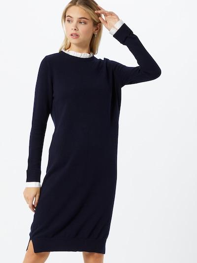 ESPRIT Pletené šaty - námornícka modrá / biela, Model/-ka