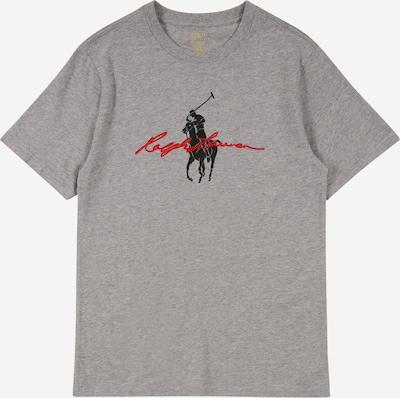Tricou POLO RALPH LAUREN pe gri amestecat / roșu / negru, Vizualizare produs