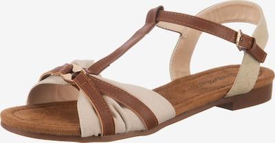 ambellis Sandale in beige / cognac, Produktansicht
