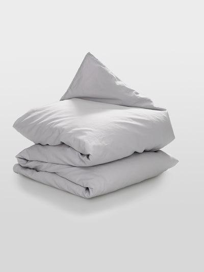 Erlich Textil Bettdeckenbezug aus Bio-Baumwolle & Leinen in hellgrau, Produktansicht