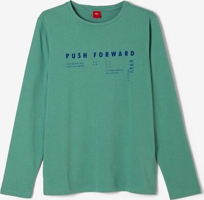 s.Oliver Shirt in royalblau / pastellgrün, Produktansicht