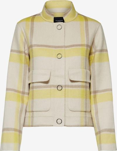 SELECTED FEMME Jacke in gelb / weiß, Produktansicht