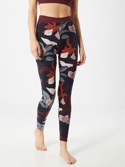 CALIDA Leggings in beige / opal / dunkelblau / mischfarben / rostrot, Modelansicht