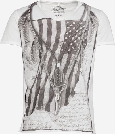 Key Largo T-shirt 'MT RAZOR BLADE' i greige / off-white, Produktvy