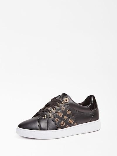 GUESS Sneakers laag 'Rejeena' in de kleur Bruin / Zwart, Productweergave