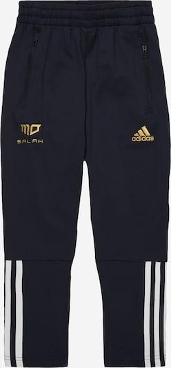 ADIDAS PERFORMANCE Sporthose 'SALAH' in dunkelblau / gold / weiß, Produktansicht