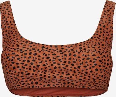 Vero Moda Curve Bikinitop 'Madison' in rostbraun / schwarz, Produktansicht