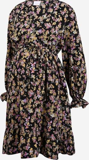 Mamalicious Curve Kleid 'EMRA' in gelb / pink / schwarz, Produktansicht