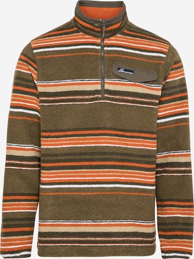CRAGHOPPERS Sportpullover 'Lionel' in dunkelgrün / orange / weiß, Produktansicht