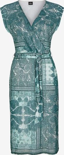 s.Oliver BLACK LABEL Kleid in grün / weiß, Produktansicht