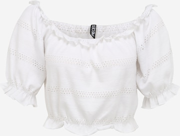 Pieces Petite Shirt 'TAYLEE' in Wit