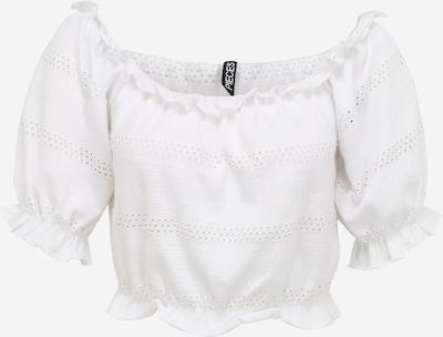 Tricou 'TAYLEE' Pieces Petite pe alb, Vizualizare produs