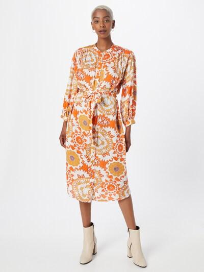 Derhy Kleid 'CACOLET' in ecru / orange / hellorange, Modelansicht