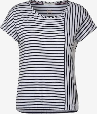 CECIL T-Shirt in marine / weiß, Produktansicht