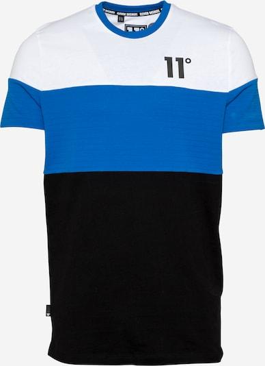 11 Degrees T-Shirt en bleu roi / noir / blanc, Vue avec produit