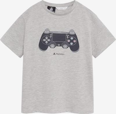 MANGO KIDS Shirt 'Share' in graumeliert / schwarz, Produktansicht