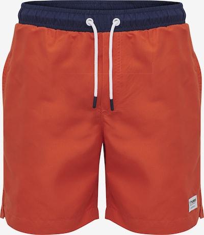 Hummel Boardshorts 'Jordan' in navy / orangerot, Produktansicht