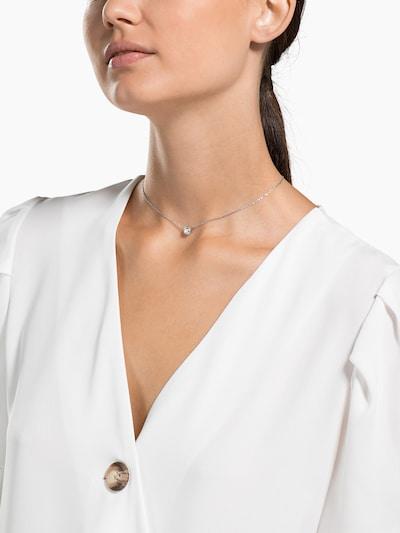 Swarovski Kette in silber / transparent: Frontalansicht