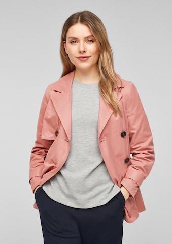 s.Oliver Between-Seasons Coat in Pink