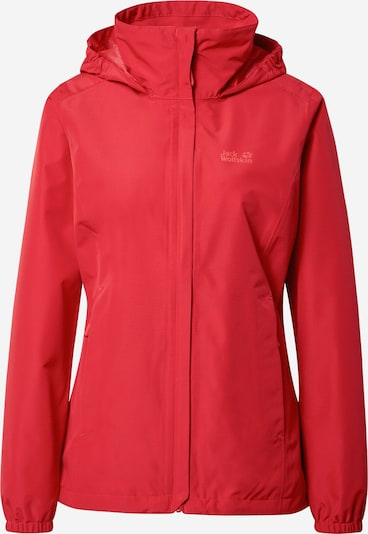 JACK WOLFSKIN Functional jacket 'STORMY POINT' in red / white, Item view