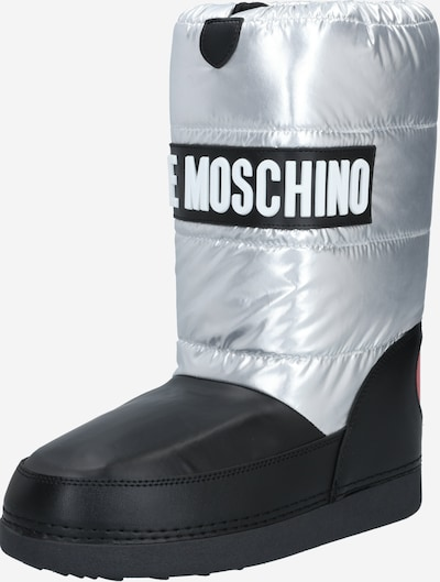 Love Moschino Snow boots in Black / Silver, Item view