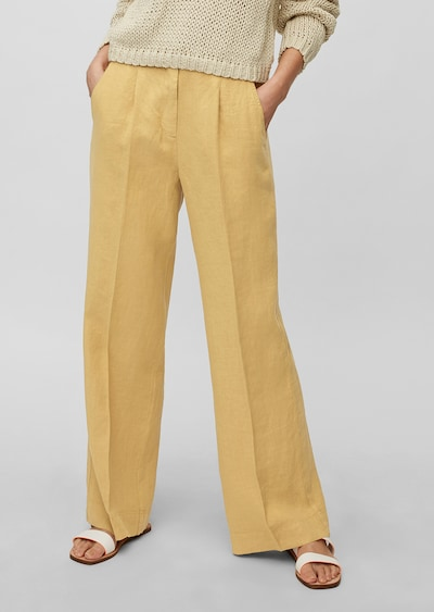 Marc O'Polo Pantalon à pince en jaune, Vue avec modèle